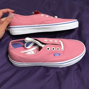 Vans Shoes - NWT Pink Classic Vans with Blue Periwrinkle Detail
